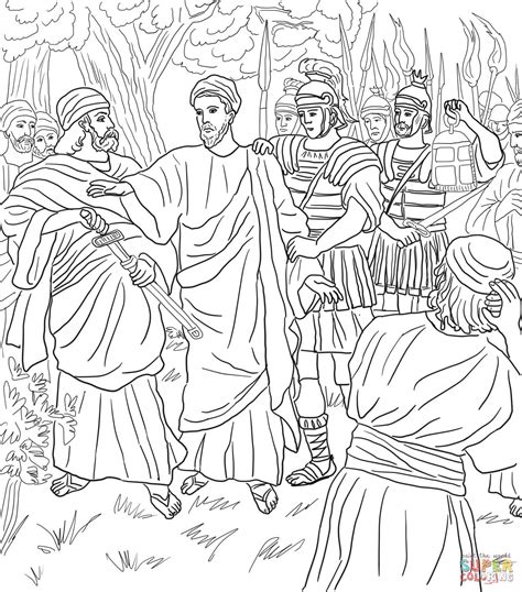 coloring pages jesus in gethsemane jesus arrested in the garden of gethsemane coloring page