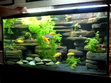 How To Make Fish Tank Decorations At Home by Diy Aquarium Background 90 Gallon Made From Styrofoam