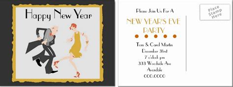 postcard template year 2 free new year postcards templates design