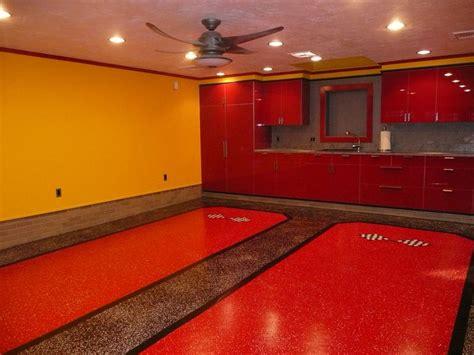red floor paint custom garage epoxy floor designs epoxy flooring