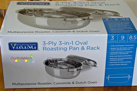 Oval Roasting Pan Rack by Viking 3 Ply 3 In 1 Oval Roasting Pan Rack Ourkidsmom