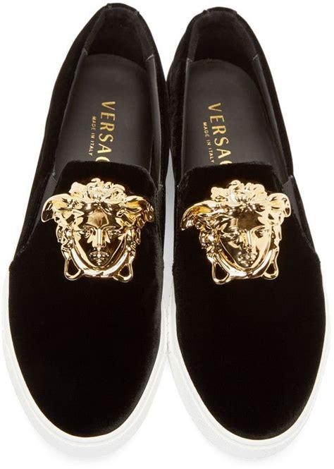 versace mens boots versace black velvet medusa sneakers walk around the house
