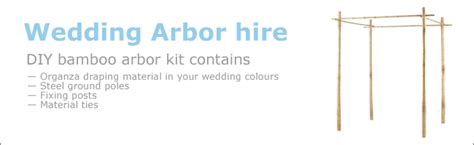 Wedding Arch Hire Auckland by Bali Flags Hire Items