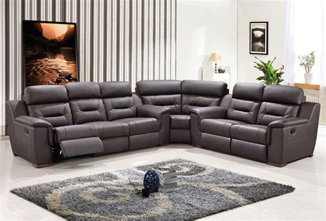 modern reclining sectional sofas modern leather