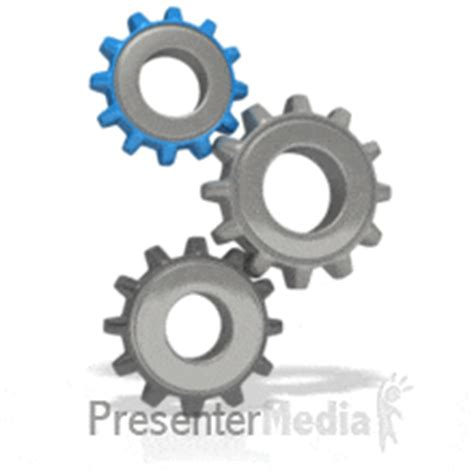 Manufacturing Element A Powerpoint Template From Animated Gears Powerpoint