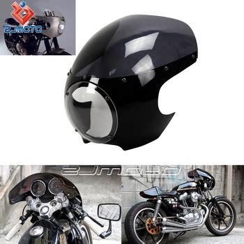 zjmoto motorcycle headlight fairing cafe racer custom cruiser bobber chopper dyna touring fit to