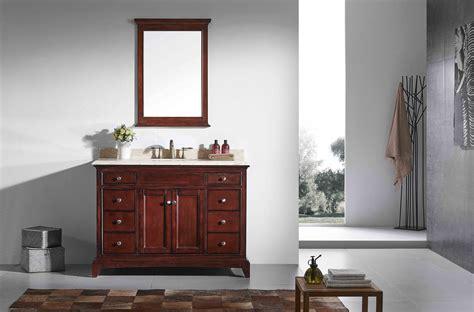 solid wood bathroom vanities without tops eviva elite stamford 48 quot brown solid wood bathroom cabinet