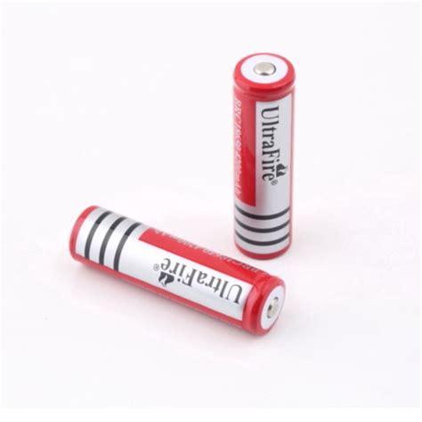 Baterai Rechargeable ultrafire baterai 18650 3 7v 6000mah dengan button top