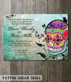 1000 Images About Sugar Skulls On Pinterest Day Of The Dead Sugar Skull And Halloween Weddings Skull Invitation Templates