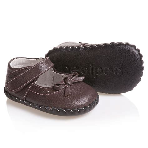 pre walker shoes pediped originals 0 24mth brown leather