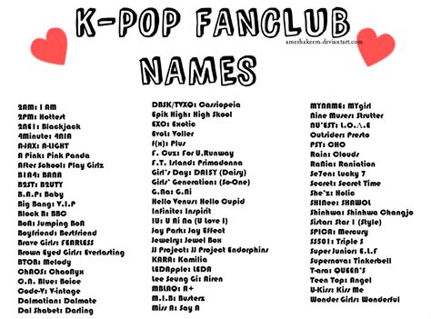 cool names for your house k pop fanclub names by amerhakeem on deviantart