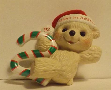 hallmark keepsake ornament baby s second christmas 1992