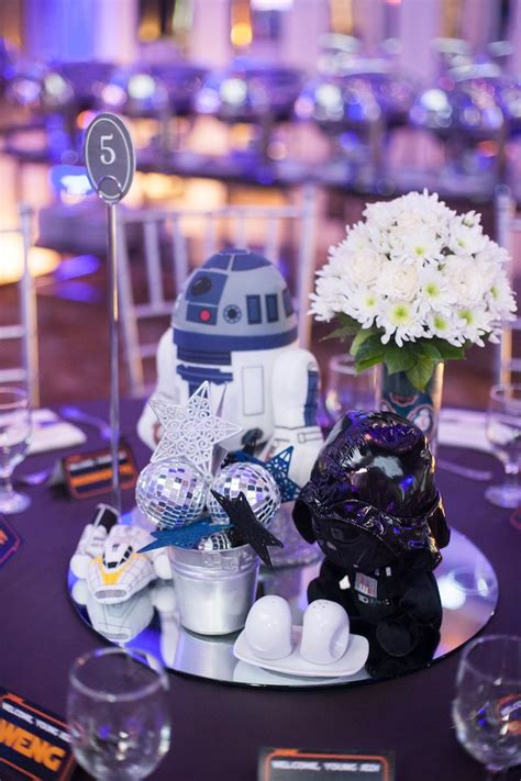 Wars Table Decorations by Kara S Ideas Blue And Silver Wars Birthday