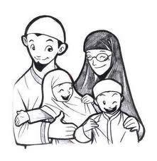 gambar kartun keluarga muslim kumpulan gambar foto kartun