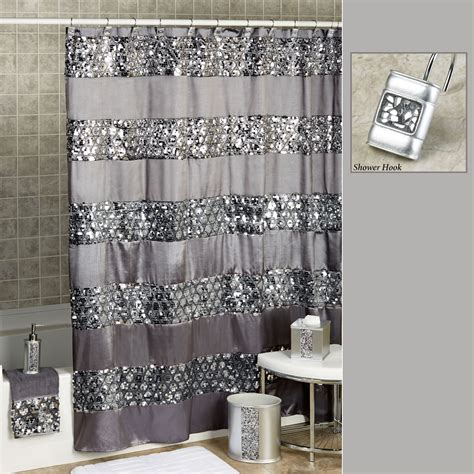 shower curtain silver sinatra sequined silver shower curtain