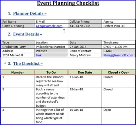 event plan template event planning checklist template choice image template