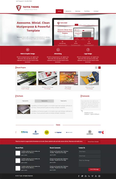20 best corporate muse templates 2017 responsive miracle