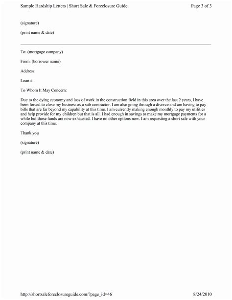 Contribution Letter Sle For Loan Modification sle mortgage hardship letter for free page 3