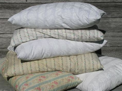 feather bed pillows lot vintage feather bed pillows w old flowered cotton