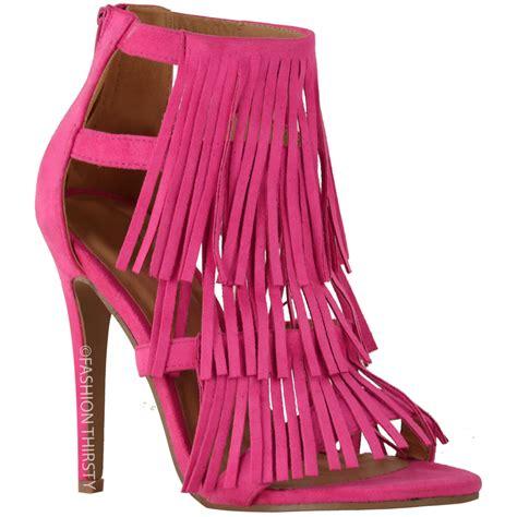 high heels with fringe womens fringe high heel sandals tassel