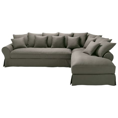 grey linen sofa 6 seater taupe grey linen right hand corner sofa bastide