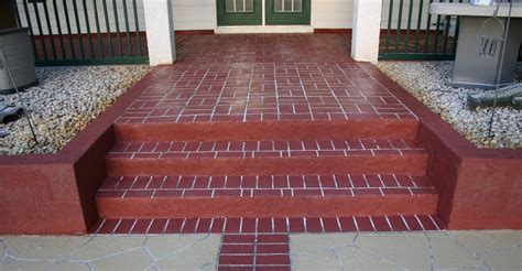 Brick Stairs Design Concrete Steps Stairways Sted Colored Concrete Stairways Offer Endless Design