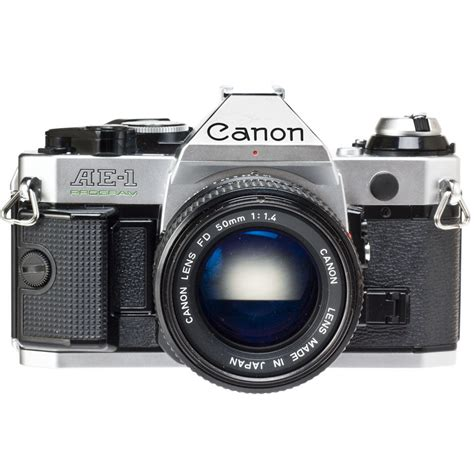 canon ae 1 35mm used canon ae 1 program 35mm slr manual focus chrome