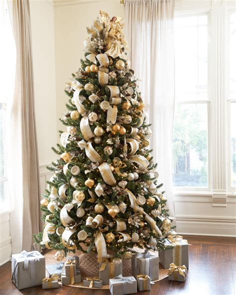 white and gold decorated trees silver and gold tree tree decorating