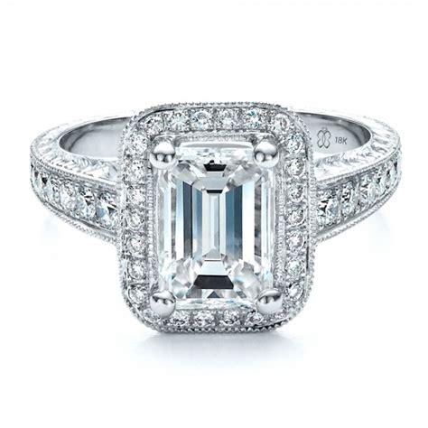 custom emerald cut engagement ring 1478 bellevue