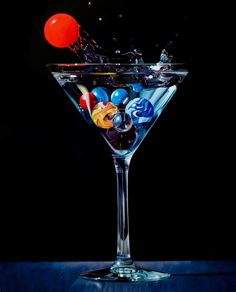 martini painting marbles in a martini glass marbles pinterest