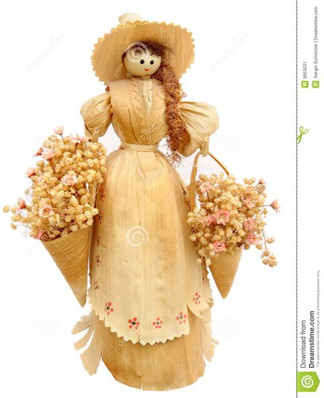 corn husk dolls to buy corn husk doll stock photography cartoondealer 6020090