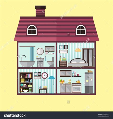 different room styles different rooms in a house clipart clipartsgram