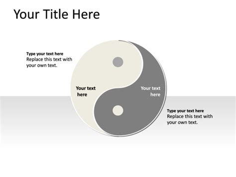 what color is yin powerpoint slide yin yang diagram multicolor 2 sides