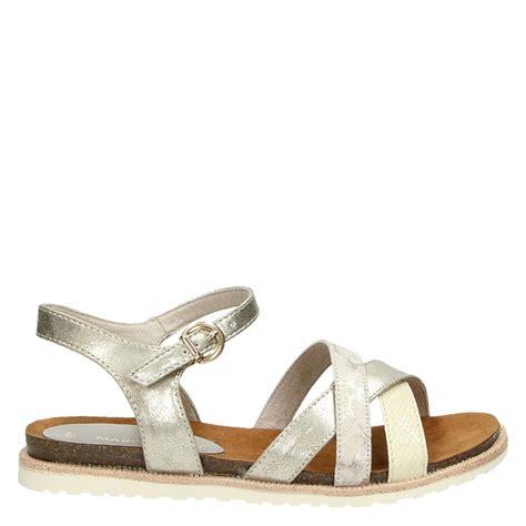 sandal merk conexion uk 36 37 40 marco tozzi sandalen goud