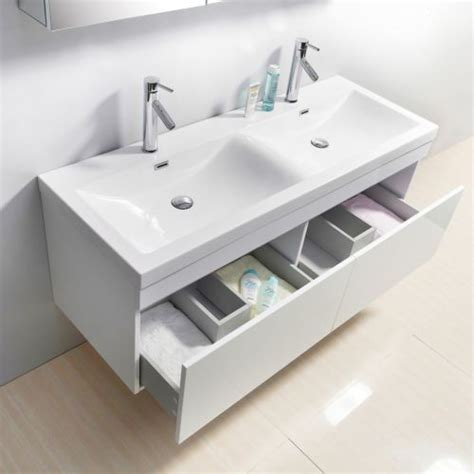 55 inch sink white bathroom vanity contemporary