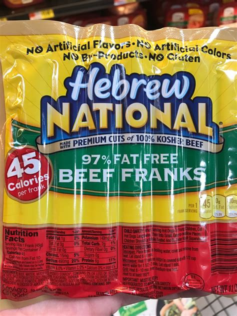 hebrew national calories hebrew national nutrition information nutrition ftempo