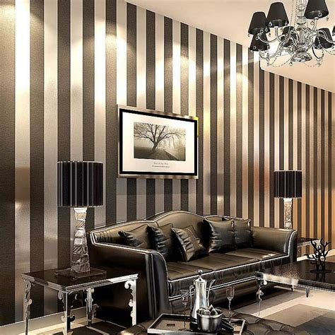 Silver Wallpaper For Living Room by Modern Black Wallpaper Striped Purple And Silver Glitter