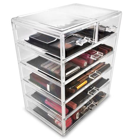 Organizing Makeup Drawers by Ggi International Acrylic 6 Drawer Makeup Organizer With