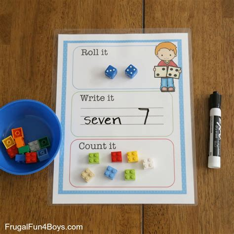 Roll It printable roll it write it count it mats