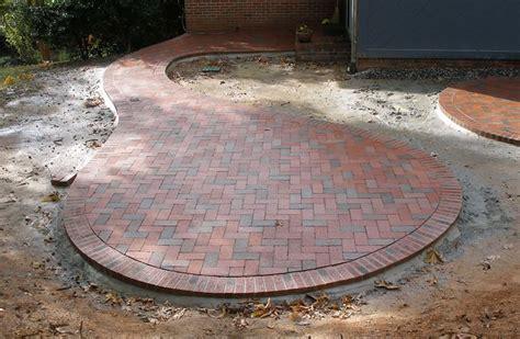 circular paver patio circular patio with pine brick pavers like the shape