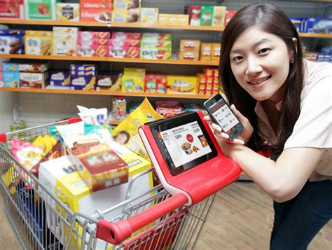 Smart Phone Smart Shopping by Smart Shopping Cart By Sk Telecom