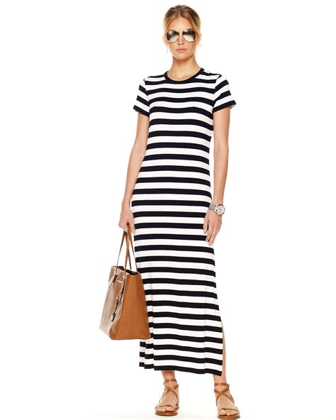 Striped Maxi Dress michael kors exclusive striped maxi dress in blue navy