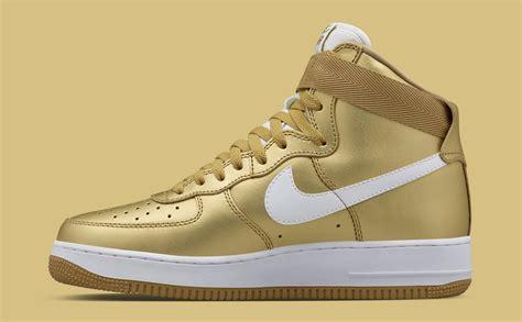 Nike Air 1 High nike air 1 high metallic gold sneaker bar detroit