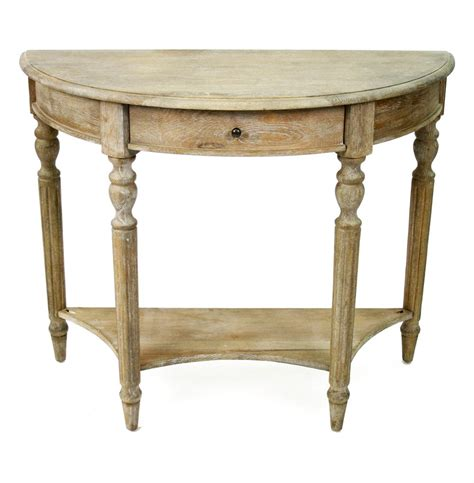 country style tables traditional country style demilune console table