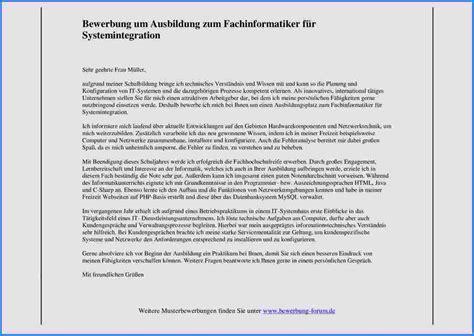 Anschreiben Fã R Bewerbung Bewerbung Fachinformatiker Systemintegration Oder Anwendungsentwicklung Kostenlos Downloaden