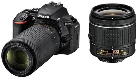 nikon d5600 dslr with dual lens af p dx nikkor 18 55 mm f 3 5 5 6g vr and 70 300
