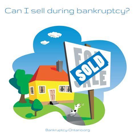 can i sell my home during a personal bankruptcy