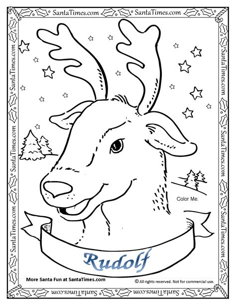 printable reindeer activities rudolf the red nosed reindeer coloring page printout more