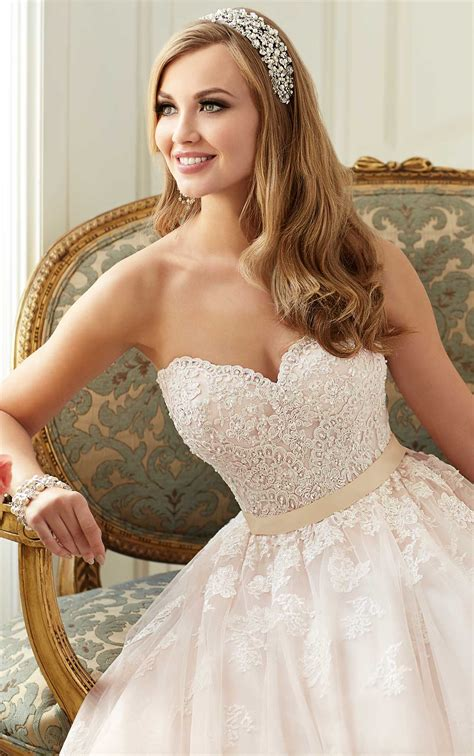 Wedding Hairstyles For Princess Dresses by Tulle And Lace Princess Wedding Dress Stella York