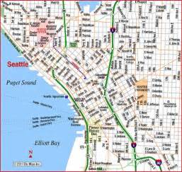 Map Downtown Seattle by Fanboy News Network Seattle The Birth Of The Geek